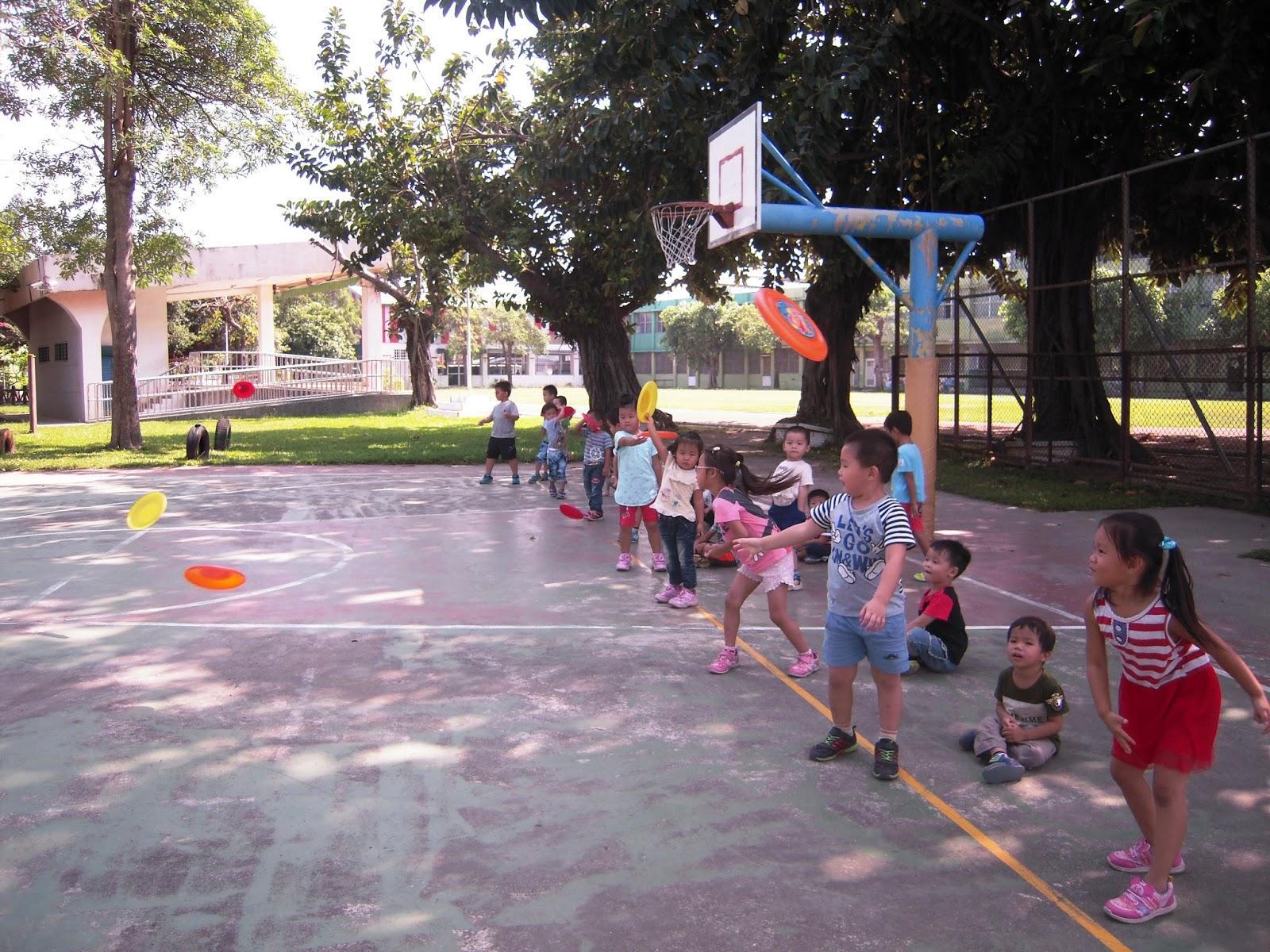 108學年度★港東國小附設幼兒園★: 飛飛小飛盤&平衡遊戲