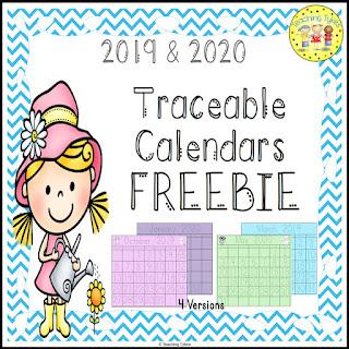 https://www.teacherspayteachers.com/Product/Calendar-Traceable-FREEBIE-2989575
