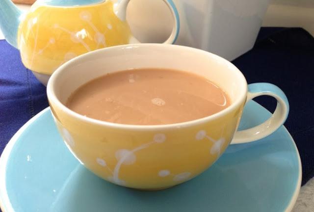 Sweet Cinnamon Milk Tea #drinks #milk