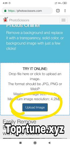 Photoscissors Image Upload
