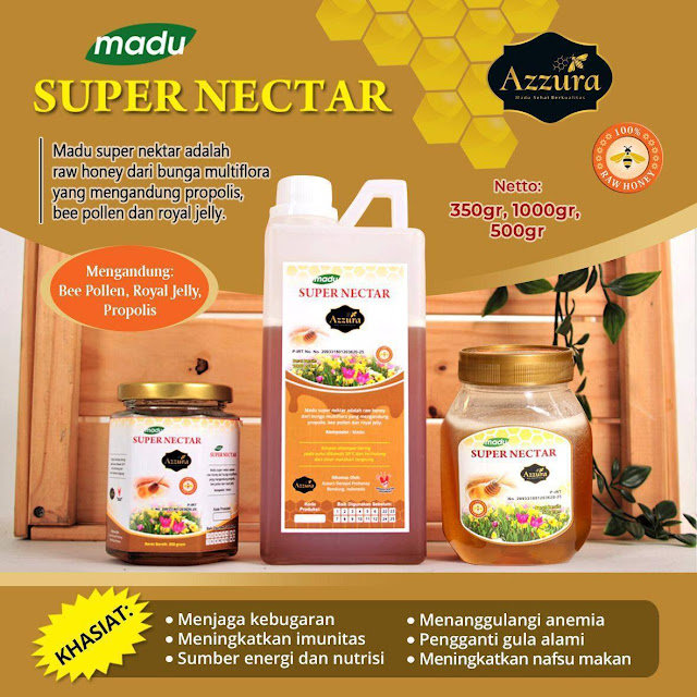 Madu Azzura Super Nectar 350 500 1000 gr