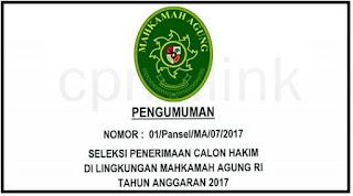 CPNS Mahkamah Agung (MA) RI 2017/2018 Melalui Online Sscn.BKN.go.id
