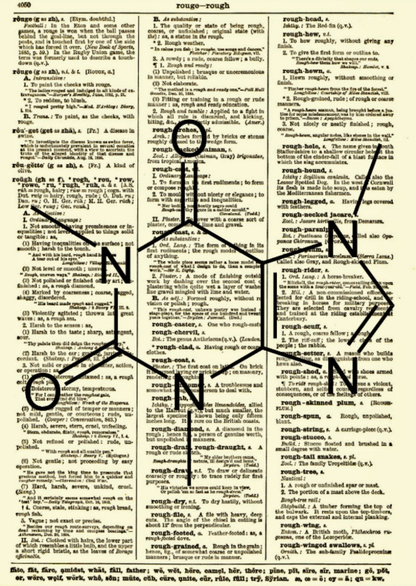 16-Caffeine-Molecule-Belle-Old-Books-and-Dictionaries-in-Re-Imagination-Prints-www-designstack-co