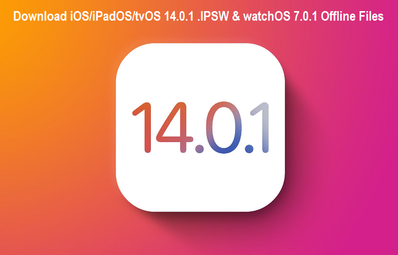 Download iOS,iPadOS,tvOS 14.0.1 .IPSW and watchOS 7.0.1