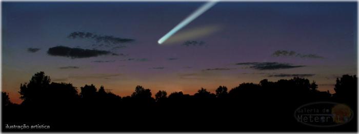 como encontrar cometa no céu julho de 2015
