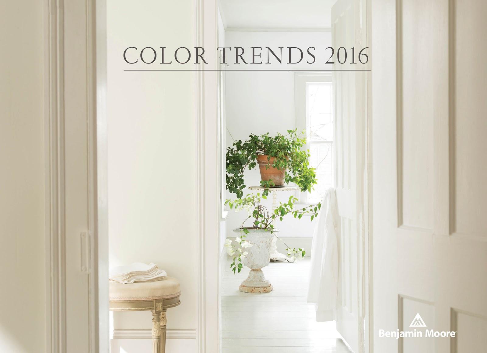 Trendsetter Interiors: Benjamin Moore Color Trends 2016