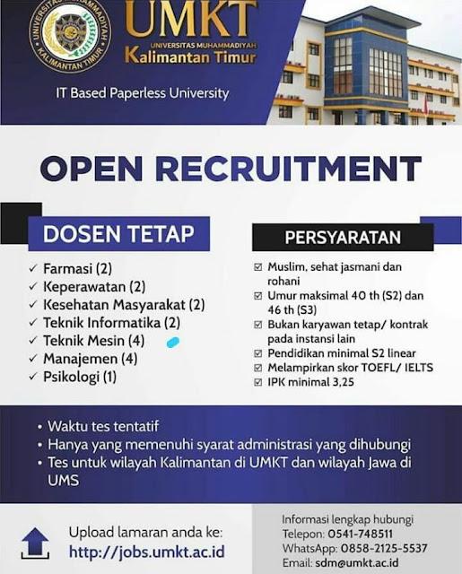 Lowongan Kerja Dosen 2020 Umkt Universitas Muhammadiyah Kalimantan Timur Lowongan Dosen
