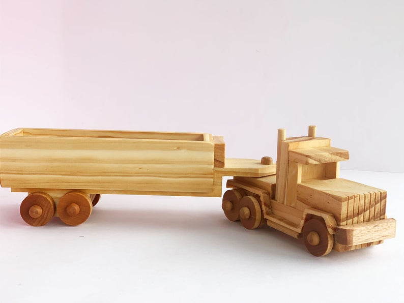 sage toy shop handmade wooden truck