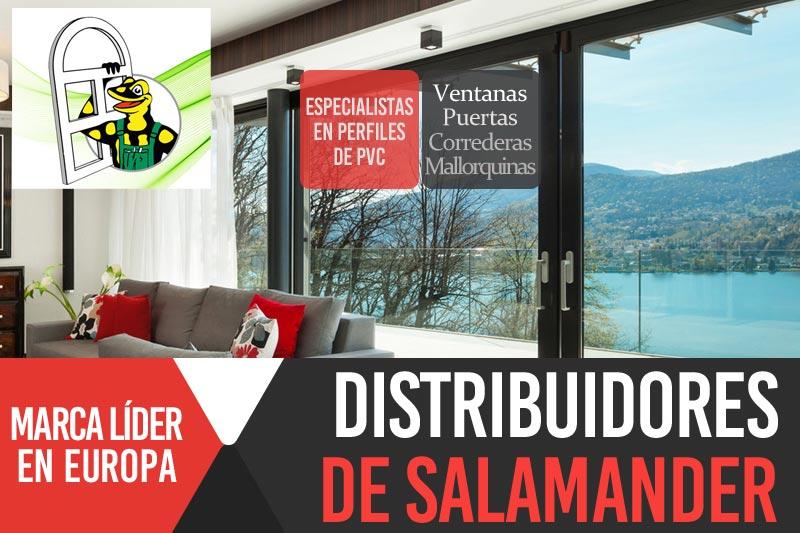 Distribuidores de perfiles de PVC de la marca Salamander