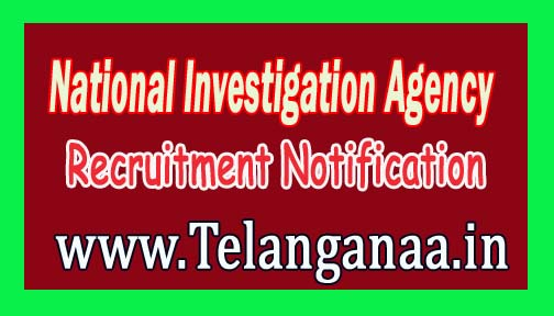 NIA (National Investigation Agency) Recruitment Notification 2016