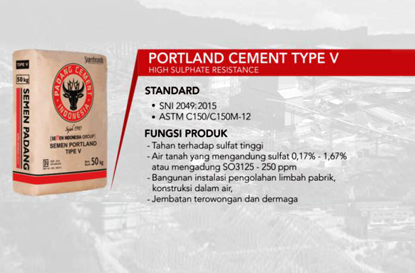 Portland Cement Type V – for high sulfate resistance