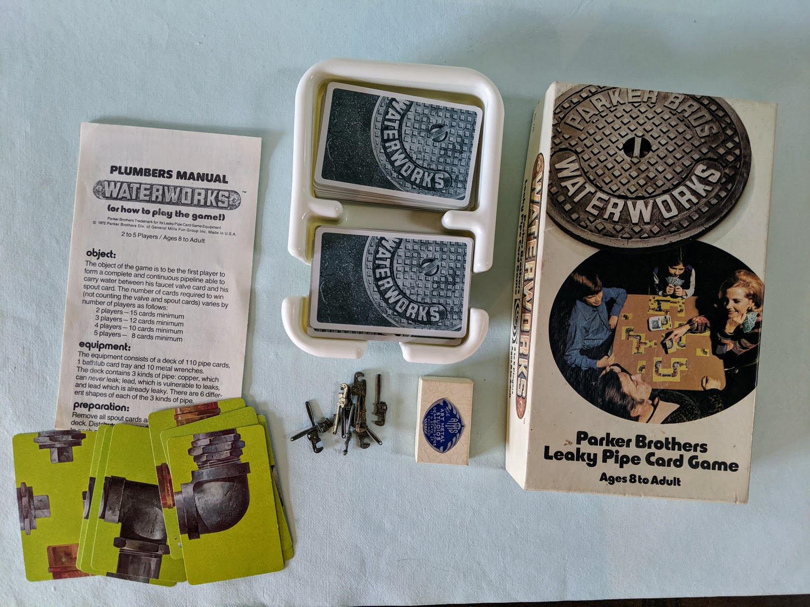 Photo of a vintage card game set