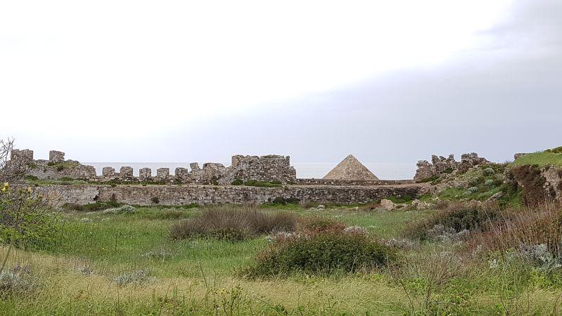 Blick über die Festung Methoni