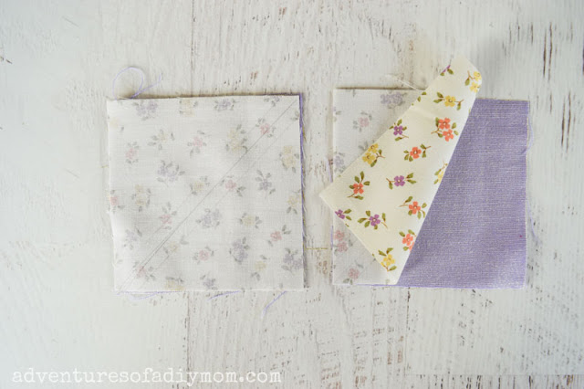 squares of fabric