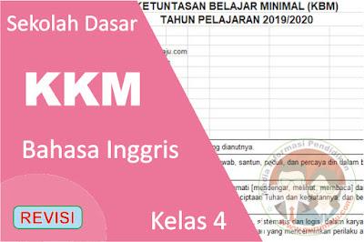 Download KKM Bahasa Inggris Kelas 4 K13 Semester 1