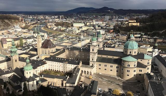 view of salzburg from hohensalzburg fortress