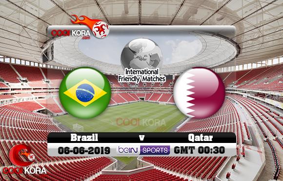 مشاهدة مباراة البرازيل وقطر اليوم 6-6-2019 مباراة ودية