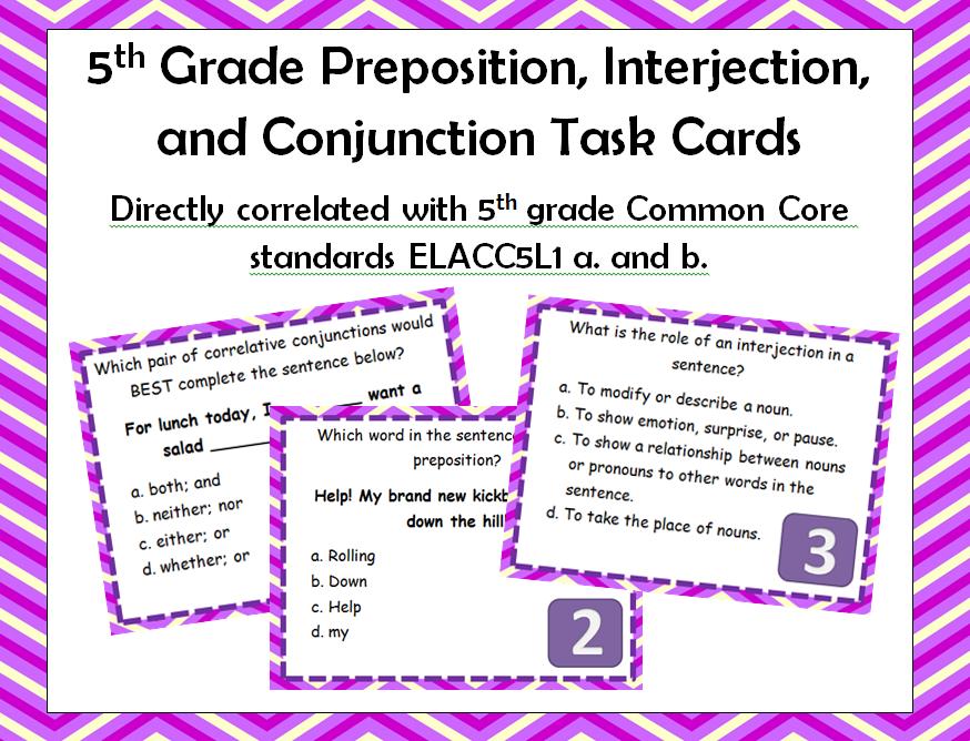 Teach in the Peach: 5th Grade Preposition, Interjection, and