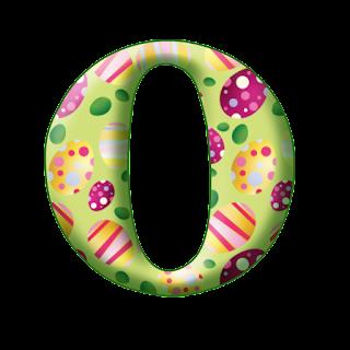 Abecedario con Huevos de Pascua.