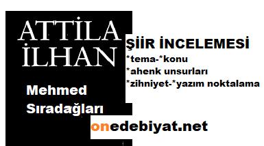 Mehmed Sıradağları Şiiri Tema Konu