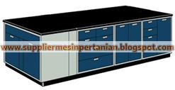 island bench polos - meja lab ruangan tengah / lemari asam