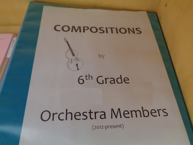 Book of orchestra student compositions