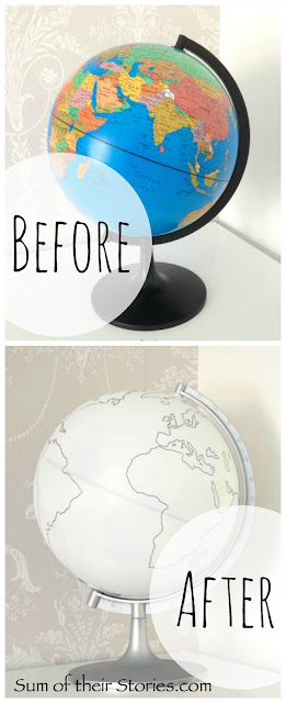 Before and after globe makeover