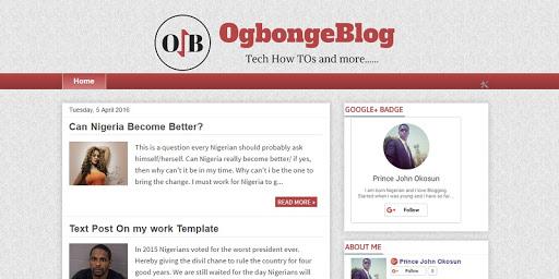 free OgbongeBlog template