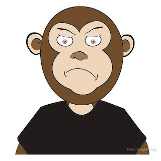 cranky monkey cartoon