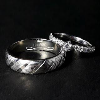 cincin nikah lamaran tunangan pasangan