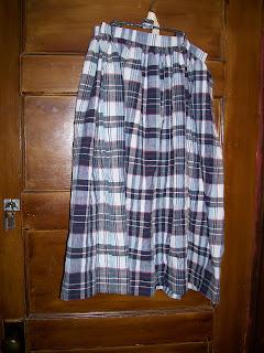 Girl's skirt or work petticoat, 1850s style
