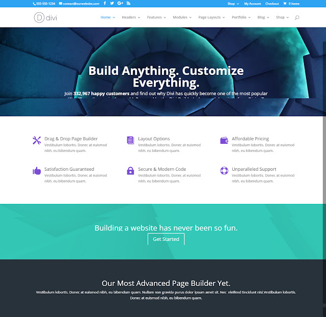Divi- Powerful WordPress Theme With Material Design Features