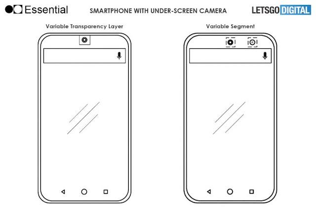 شركة Essential تعمل على هاتف بكاميرا أمامية في الشاشة وفقاً لبراءة إختراع جديدة