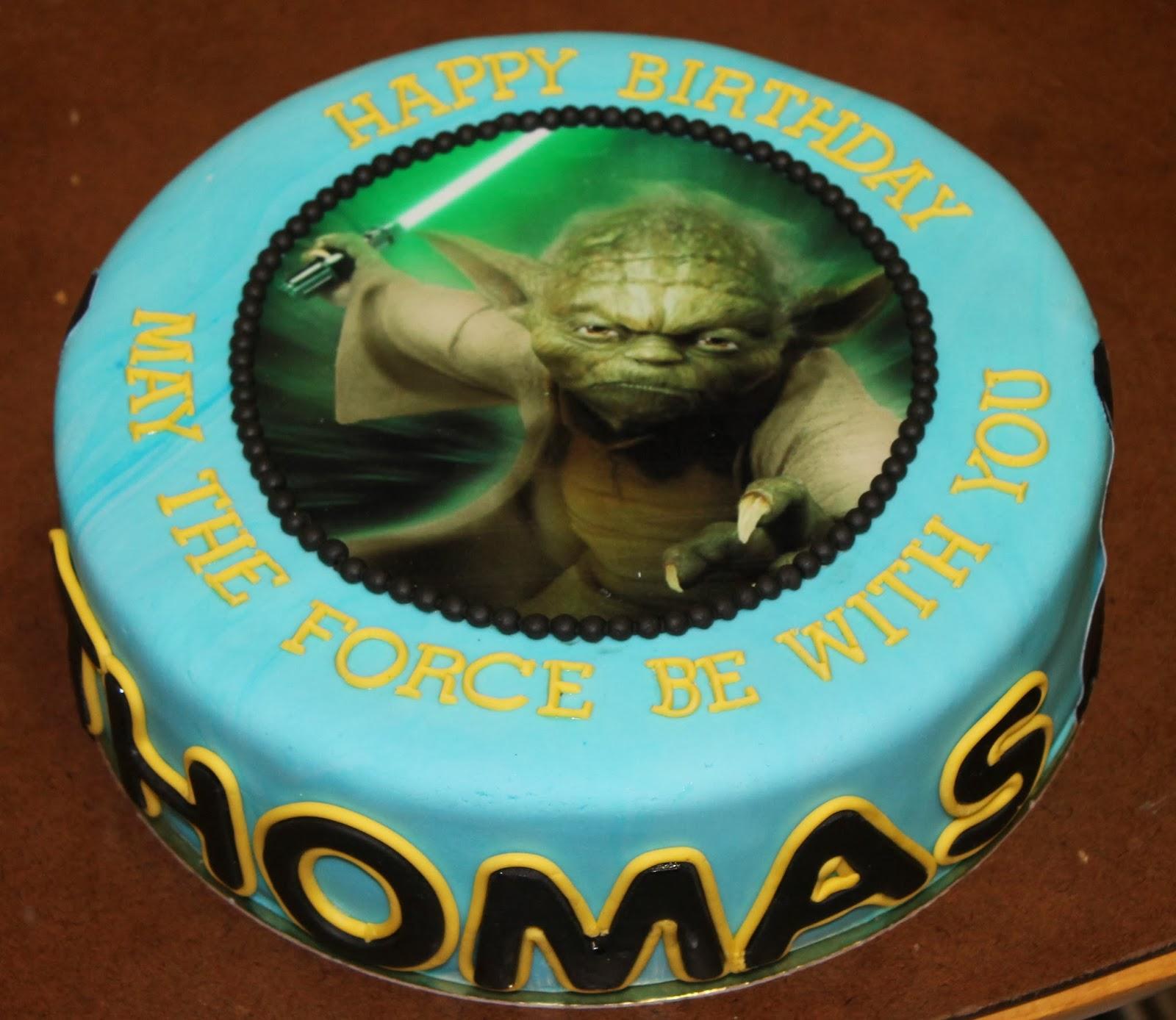 yoda taart mama's stekkie: taart voor Thomas yoda taart