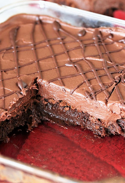 Homemade Brownies with Raspberry Truffle Topping Image