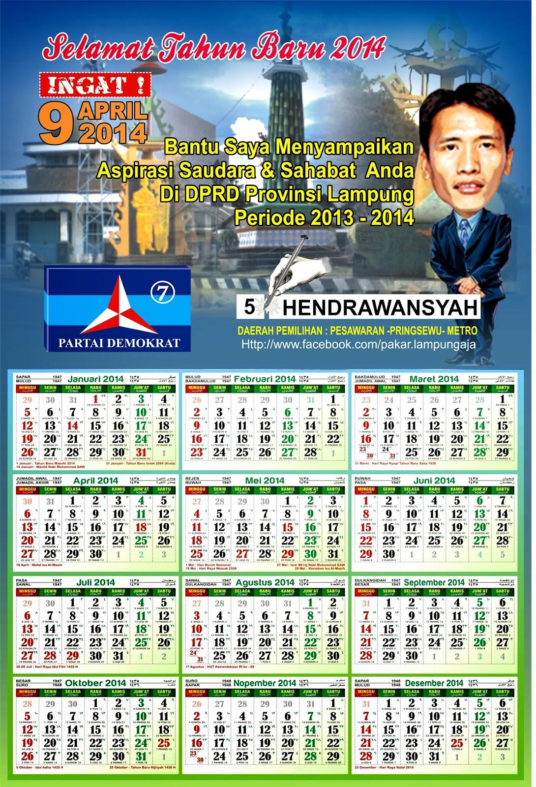 Cetak Kalender Caleg 2014 Murah Harga Murah
