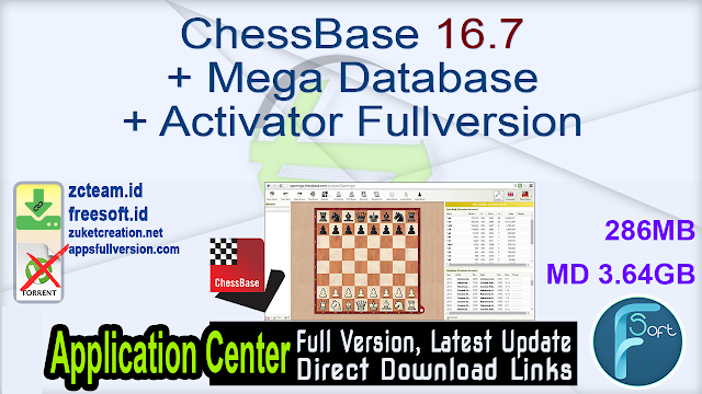 ChessBase 16.7 + Mega Database + Activator Fullversion