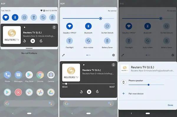 Android 12: ردود الفعل اللمسية