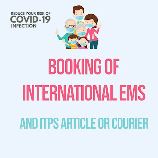 Booking of international EMS and international ITPS couriers or articles