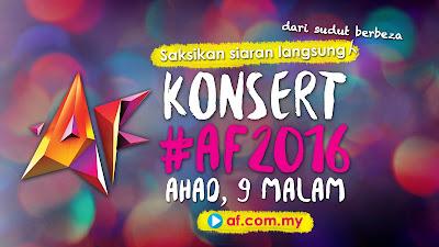 Konsert Akademi Fantasia 2016