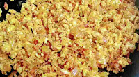 Scrambled eggs with spices for egg bhurji recipe