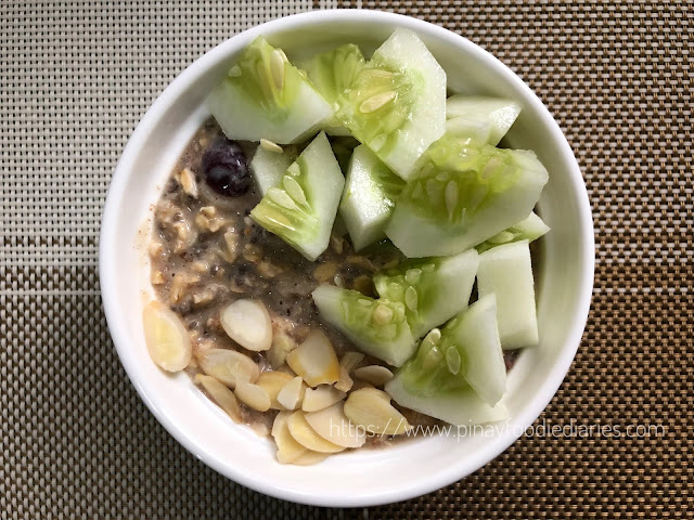 Crunchy Overnight Oats with Cucumber