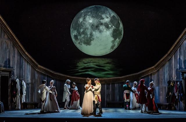 Prokofiev: War and Peace - Lauren Michelle as Natasha, Jonathan McGovern as Andrei - Welsh National Opera (Photo Clive Barda)