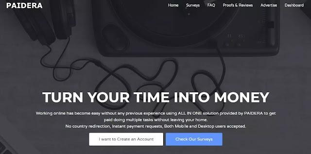 موقع paidera - أسهل وافضل موقع للربح من الانترنت
