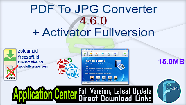 PDF To JPG Converter 4.6.0 + Activator Fullversion