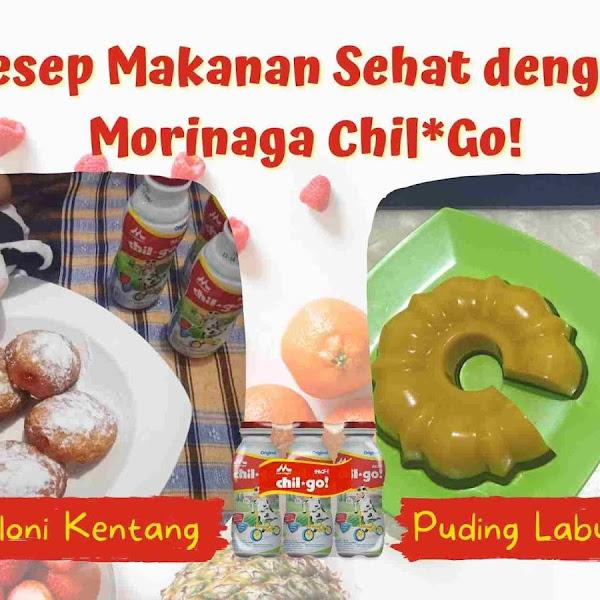 Resep Makanan Sehat dengan Morinaga Chil*Go! : Puding Labu Kuning dan Bomboloni Kentang