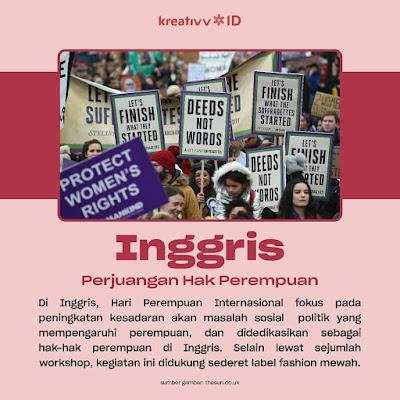 Inggris  perjuangan Hak Perempuan