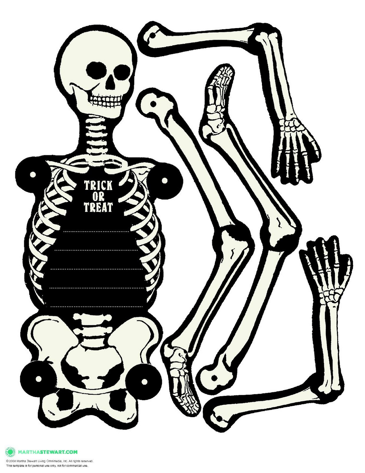 halloween skeleton template