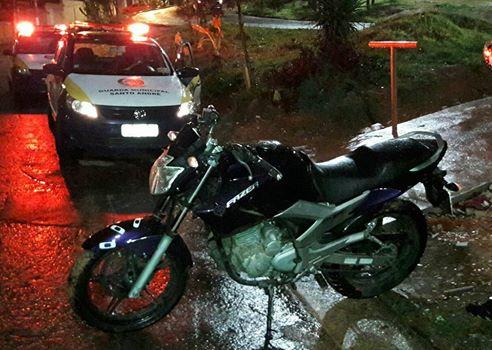 Santo André - Ronda Setorial da 1º Inspetoria localiza moto produto de roubo na entrada da favela da Tamarutaca